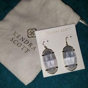 Kenda Scott slate cats eye earrings